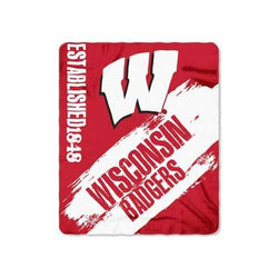 Wisconsin Badgers Blanket 50x60 Fleece College Painted Design