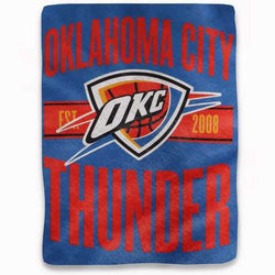 Oklahoma City Thunder Blanket 46x60 Micro Raschel Clear Out Design