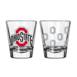 Ohio State Buckeyes Shot Glass - 2 Pack Satin Etch