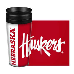 Nebraska Cornhuskers Travel Mug - 14 oz Full Wrap - Hype Style