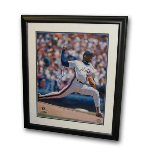Autographed Dwight Doc Gooden 16X20 Framed Photo Vertical (MLB Authenticated)