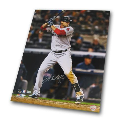 Autographed Will Middlebrooks 16-by-20 Inch Unframed Batting Photo