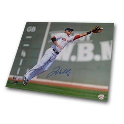 Autographed Will Middlebrooks 16-by-20 Inch Unframed Fielding Photo