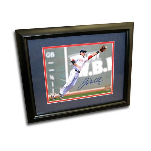 Autographed Will Middlebrooks 8-by-10 Inch Framed Fielding Photo