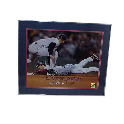 Autographed Dave Roberts 16x20 Framed Slide Photo