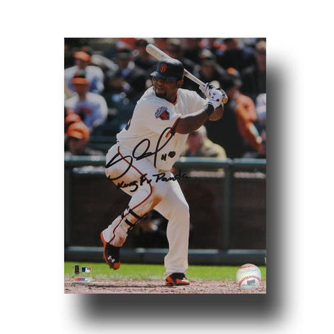 Autographed Pablo Sandoval 8x10 unframed photo inscribed Kung Fo Panda.