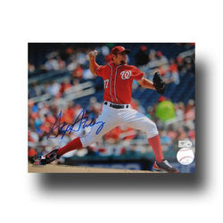 Autographed Stephen Strasburg 8-by-10 inch unframed photo