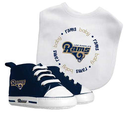 Los Angeles Rams NFL Infant Bib and Shoe Gift Set