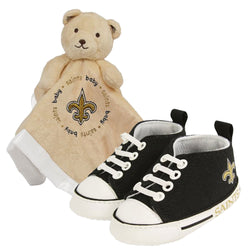 New Orleans Saints NFL Infant Blanket and Shoe Set