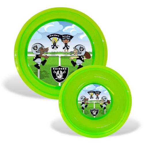 Oakland Raiders NFL Toddler Plate and Bowl Set