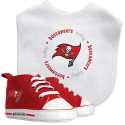 Tampa Bay Buccaneers NFL Infant Bib and Shoe Gift Set