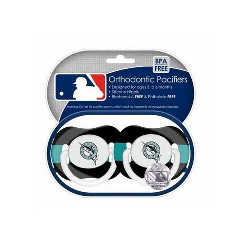 Baby Fanatic 2 Pack Pacifiers - Miami Marlins