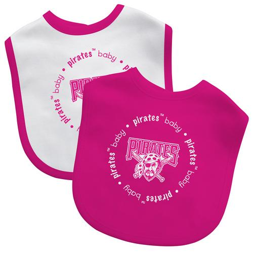 MLB Pittsburgh Pirates Baby Fanatic Bib (2-Pack)  Pink