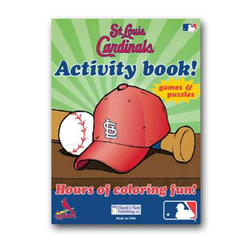 Hawk's Nest MLB St. Louis Cardinals Activity and Coloring Book