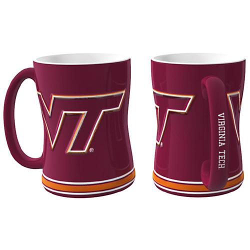 Virginia Tech Hokies NCAA Coffee Mug - 15oz Sculpted (Single Mug)