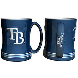 Tampa Bay Rays MLB Coffee Mug - 15oz Sculpted (Single Mug)