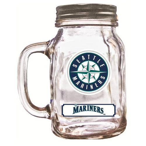 Duckhouse 16 Ounce Mason Jar - Seattle Mariners
