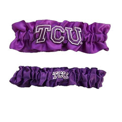 Texas Christian Horned Frogs NCAA Garter Set One to Keep One to Throw