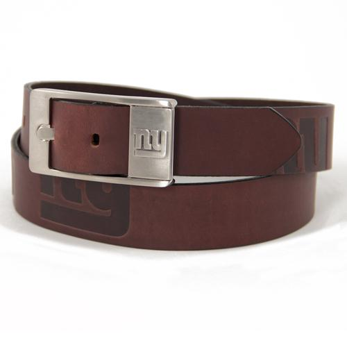 New York Giants NFL Men's Embossed Leather Belt (Size 40)