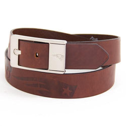 New England Patriots NFL Brandish Leather Belt Size 40