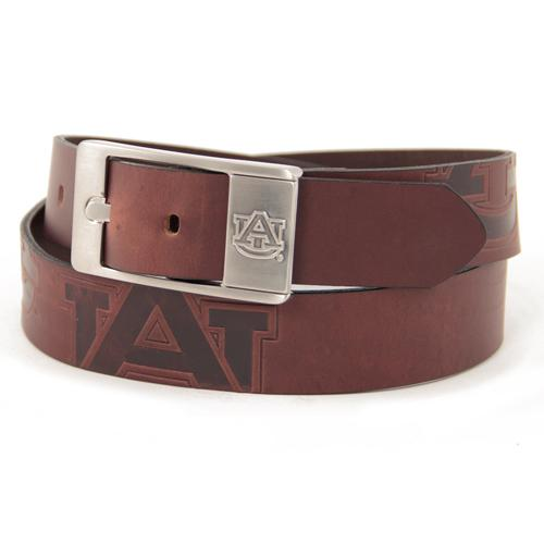 Auburn Tigers NCAA Men's Embossed Leather Belt (Size 34)