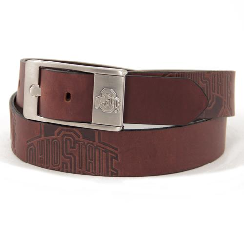 Ohio State Buckeyes NCAA Men's Embossed Leather Belt (Size 34)