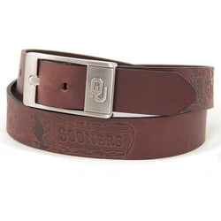 Oklahoma Sooners NCAA Men's Embossed Leather Belt (Size 34)