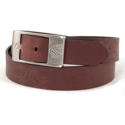 South Carolina Gamecocks NCAA Men's Embossed Leather Belt (Size 44)