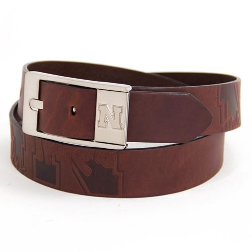 Nebraska Cornhuskers NCAA Brandish Leather Belt Size 38