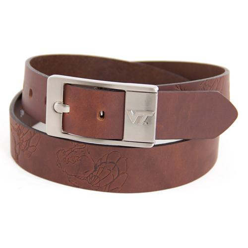 Virginia Tech Hokies NCAA Brandish Leather Belt Size 40