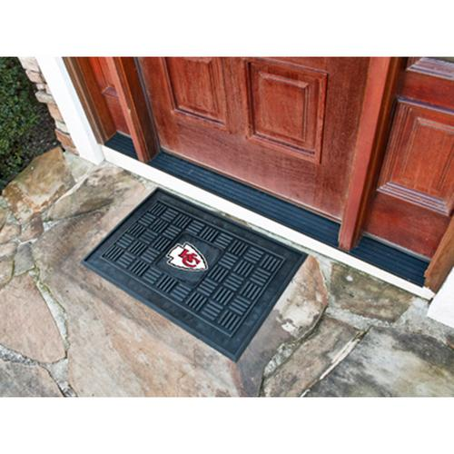 "Kansas City Chiefs NFL Vinyl Doormat"" (19""x30"")"""