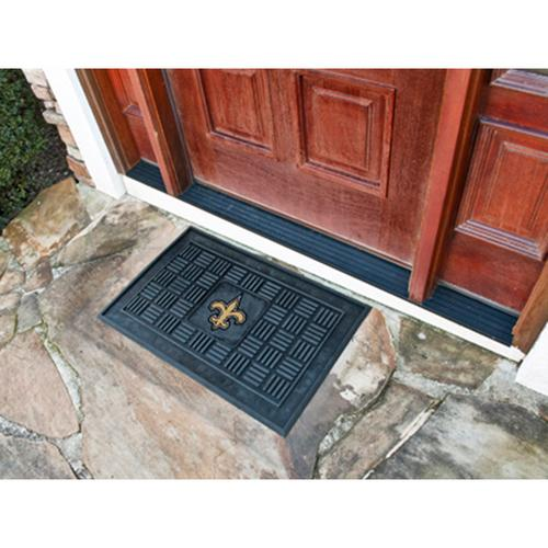 "New Orleans Saints NFL Vinyl Doormat"" (19""x30"")"""