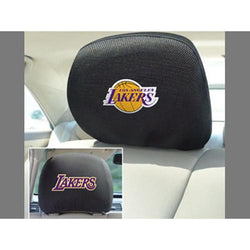 Los Angeles Lakers NBA Polyester Head Rest Cover (2 Pack)