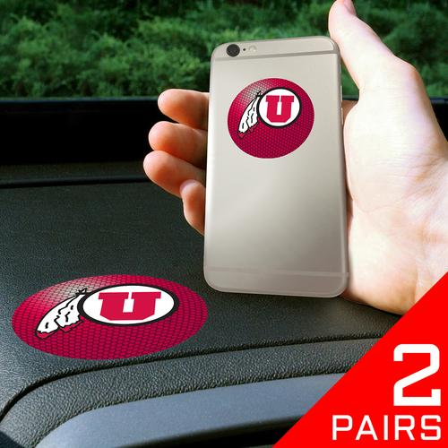 "Utah Utes NCAA Get a Grip"" Cell Phone Grip Accessory (2 Piece Set)"""