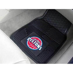 Detroit Pistons NBA Heavy Duty 2-Piece Vinyl Car Mats (18x27