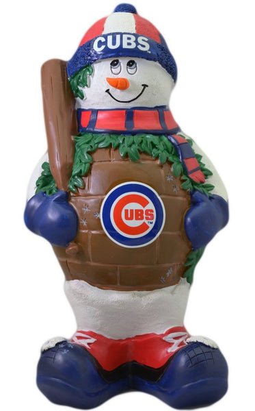 Chicago Cubs Thematic Snowman