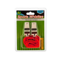 Sports Whistles with Lanyards ( Case of 24 )