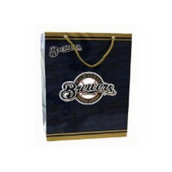 MLB Milwaukee Brewers Medium Gift Bag
