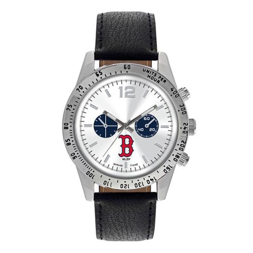 "Boston Red Sox MLB Mens Letterman Series"" Quartz Analog Watch (B Logo)"""