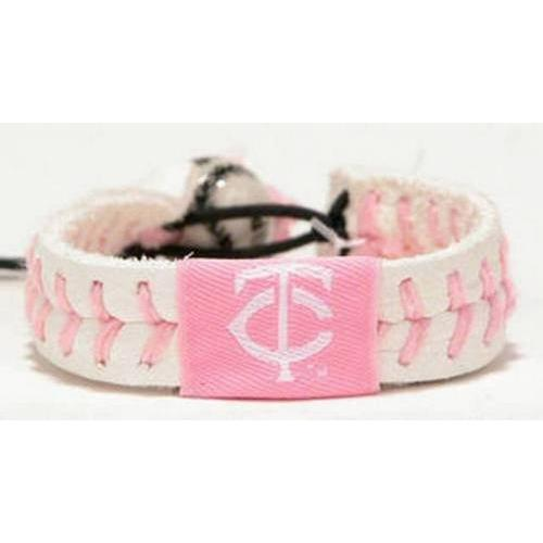 Gamewear MLB Leather Wrist Band - Twins (Pink)