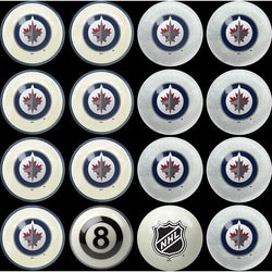 Winnipeg Jets NHL 8-Ball Billiard Set