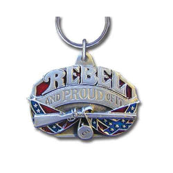 DISC KEYRING-REBEL & PROUD OF