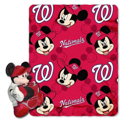 Washington Nationals MLB Mickey Mouse with Throw Combo