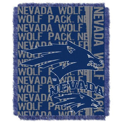 Nevada Wolf Pack NCAA Triple Woven Jacquard Throw (Double Play Series) (48x60