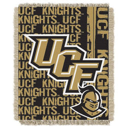 Central Florida Knights NCAA Triple Woven Jacquard Throw (Double Play Series) (48x60