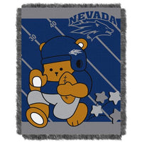 Nevada Wolf Pack NCAA Triple Woven Jacquard Throw (Fullback Baby Series) (36x48