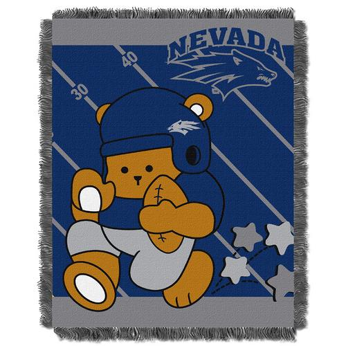 "Nevada Wolf Pack NCAA Triple Woven Jacquard Throw (Fullback Baby Series) (36x48"")"""