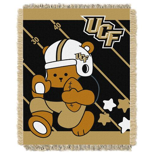 "Central Florida Knights NCAA Triple Woven Jacquard Throw (Fullback Baby Series) (36x48"")"""