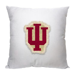 Indiana Hoosiers NCAA Team Letterman Pillow (18x18)