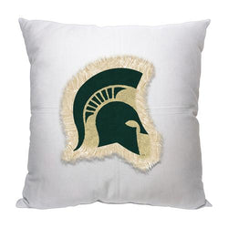 Michigan State Spartans NCAA Team Letterman Pillow (18x18)